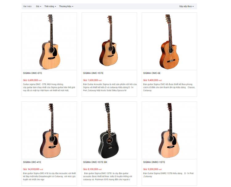 đàn guitar sigma
