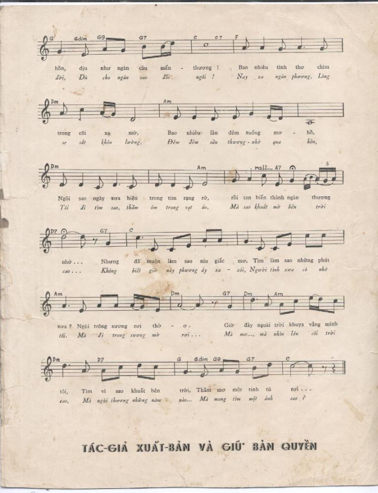 Sheet nhạc bài hát tìm một ánh sao 2