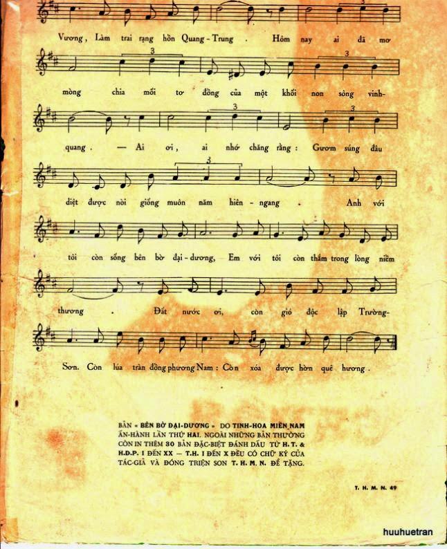 Sheet nhạc bài hát bên bờ đại dương 2