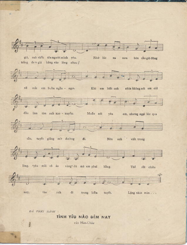 Sheet nhạc bài hát biển tuyết 2