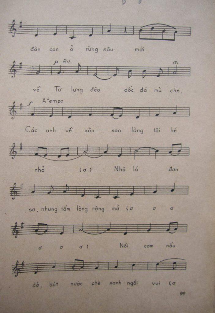 Sheet nhạc bài hát bộ đội về làng 3