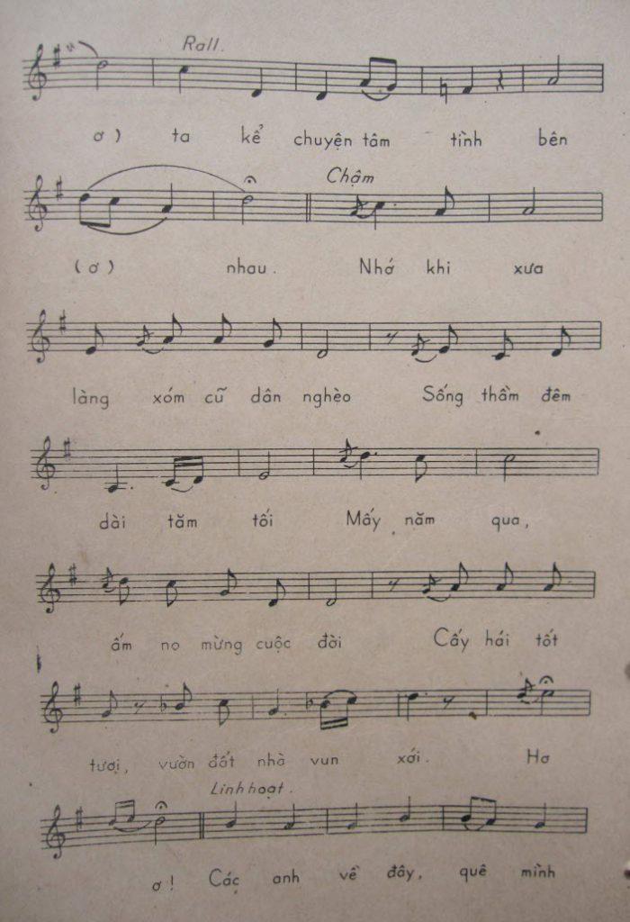 Sheet nhạc bài hát bộ đội về làng 4