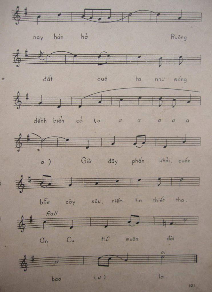 Sheet nhạc bài hát bộ đội về làng 5